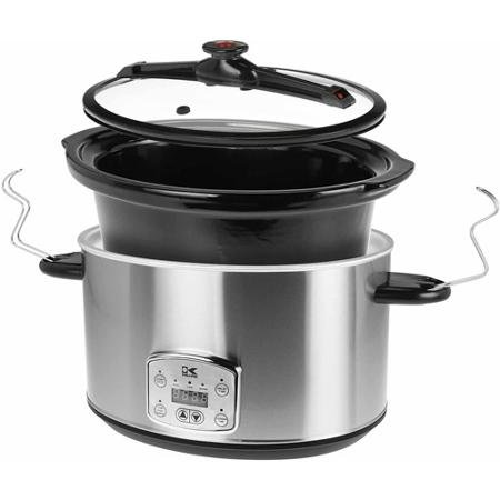 8-Qt Digital Slow Cooker with Locking Lid, Stainless Steel