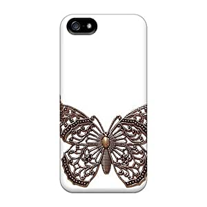 Fashion MZRuDBu4901IGMaT Case Cover For Iphone 5/5s(brass Butterfly)