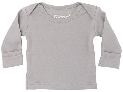 Baby Organic Cotton Long Sleeve Shirt (Light Gray, 0-3 Months) ()