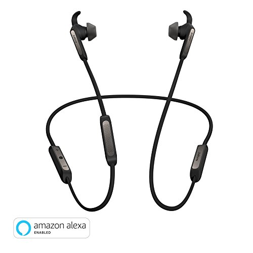 (Jabra Elite 45e Alexa Enabled Wireless Bluetooth in-Ear Headphones – Titanium Black)