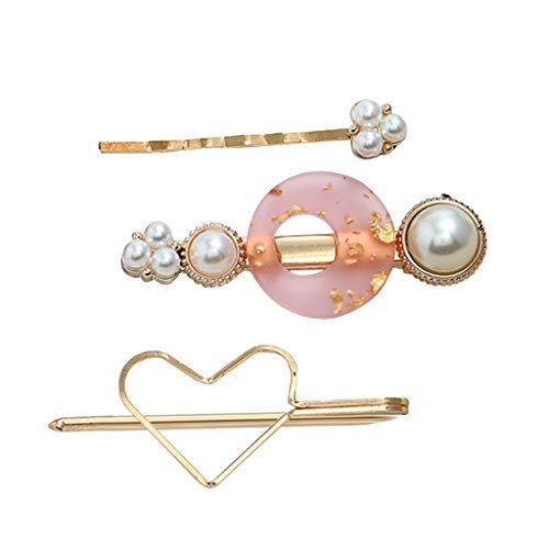 (Toaimy 3pcs Sweet Pearl Hair Clips for Women Girls,Romantic Multi-Style Hairpin Jewelry Headwear Accessories)