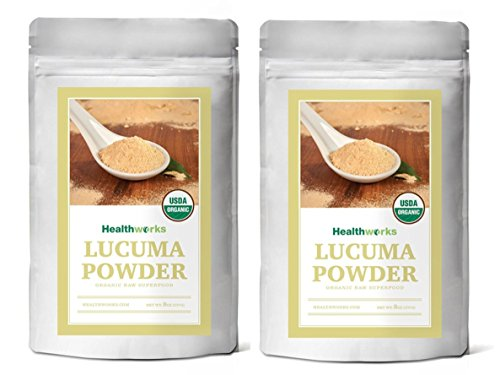 Healthworks Lucuma Powder Raw Organic, 1lb (2 8oz Packs)