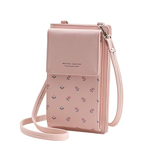 VIVI MAO Summer Small Crossbody Bag, Cell Phone Purse Wallet with 2 Adjustable Shoulder Strap Handbag for Women (B_light pink)