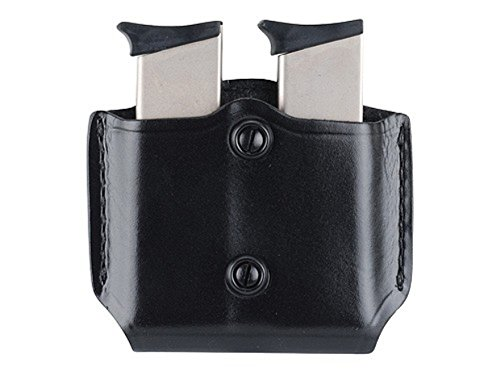 Para Ordnance Paddle - Gould & Goodrich B851-4 Gold Line Double Mag Case With Belt Loops (Black) Fits BERETTA Cougar (all); GLOCK 17, 19, 20, 21, 22, 23, 26, 27, 29, 30, 31, 32, 33, 34, 35, 36, 39; H&K USP 9, .357,.40,.45 (all); KIMBER Polymer;  PARA-ORDNANCE P10, P12, P13, P14, P15, P16 (all); S&W Sigma (all EXCEPT .380), SW M&P .45; Springfield XD4 .40, .45, .357
