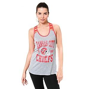 Ultra Game NFL Kansas City Chiefs Womens Jersey Tank Top Mesh Tee Shirt