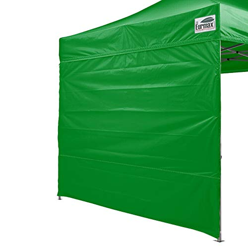 Eurmax Instant SunWall for 10×10 Pop up Canopy, Removable Zipper End, 1 Pack Sidewall Only Black