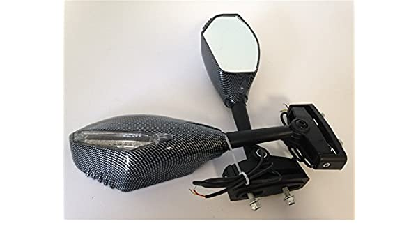 Amazoncom Hk Moto New Turn Signal Mirror For Kawasaki Ninja 500