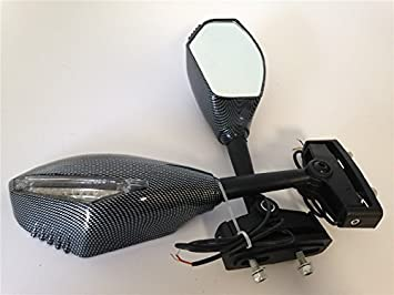 Amazon.com: HK MOTO- New Turn Signal Mirror for Kawasaki ...