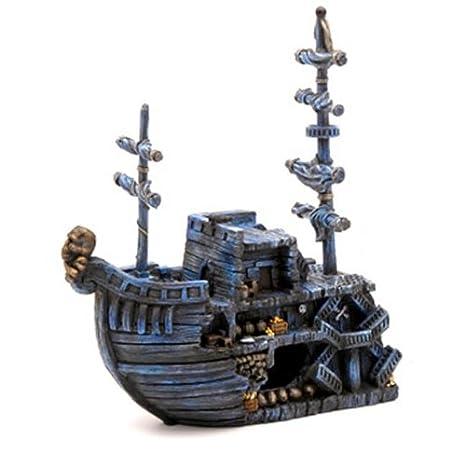Amazon Com Domestic Pet Aquariums Decorations Pirate Treasure Ship