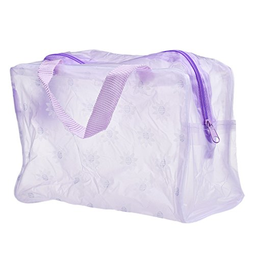 Toimothcn Portable Cosmetic Bags Makeup Toiletry Travel Wash Toothbrush Pouch Organizer Bag(Purple,One)