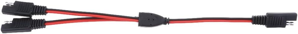 H HILABEE 18AWG SAE Plug Da 1 A 2 Cavi Splitter Per Adattatore Per Batteria Solare