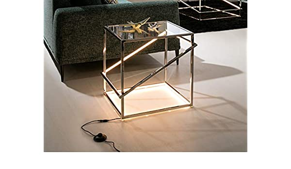 Schuller - Mueble Auxiliar - Mesa Moonlight INOX LED (51x50x52 ...