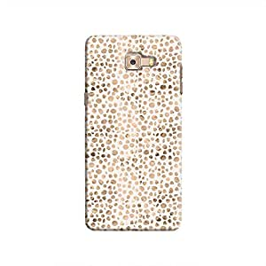 Cover It Up - Brown White Pebbles Mosaic Galaxy C9 Pro Hard Case