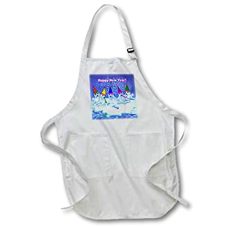 22 by 30-Inch White 3dRose apr/_11666/_1 A Group of Adorable Baby Harp Seals Celebrating Full Length Apron