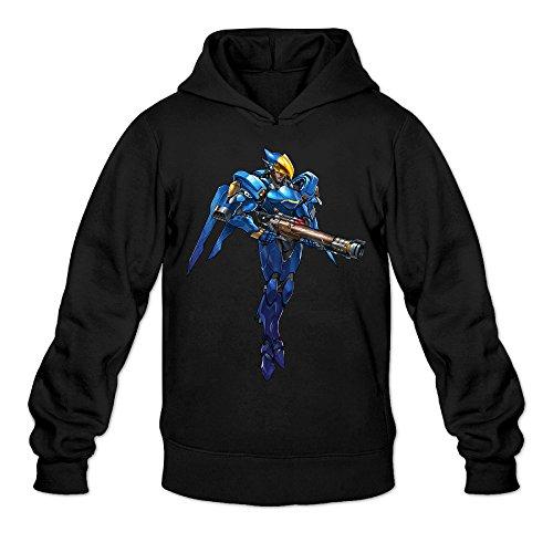 Overwatch Men's Pharah Hoodies Sweatshirt Size XL Black ()