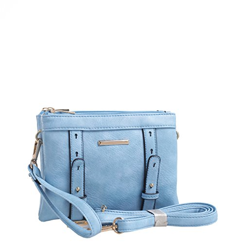 Compartment Double Collection Mia Crossbody K Cara Blue MKF by Farrow RdwYd0q