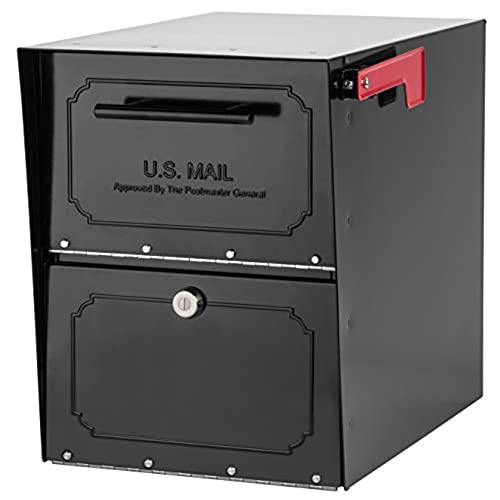 Beau Architectural Mailboxes 6200B 10 Oasis Classic Locking Post Mount Parcel  Mailbox With High Security Reinforced Lock