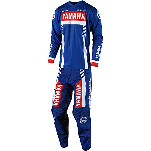 - Troy Lee Designs GP Yamaha RS1 Jersey and Pant Combo - Blue (Jersey Medium/Pant 32W)