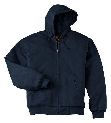 Poly Thermal Hoody Sweatshirt - Cornerstone Men's Heavyweight Full Zip Hooded Sweatshirt with Thermal 3XL Navy