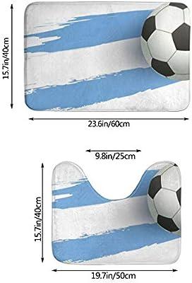 NW Balón de fútbol Bandera Argentina Baño Antideslizante Juego de ...