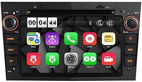 7 inch Touch Screen Global Navigation Satellite System for VAUXHALL Opel Corsa Antara Astra Vectra Meriva Swc Bluetooth Support Mirror Link DVR and DAB+ Grey IAUCH GPS Navigation for Car