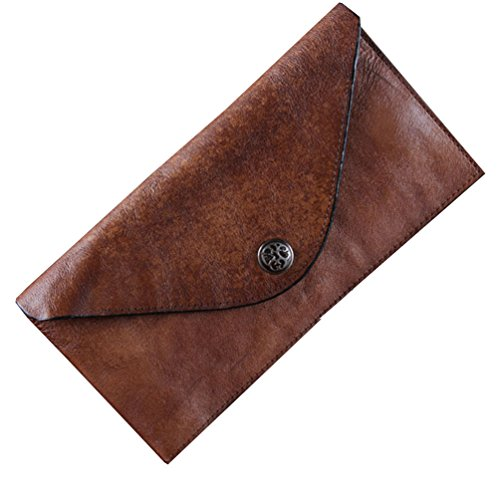 Menschwear Mens Fashion Genuine Leather Credit Card Holder Wallet Brown by Menschwear