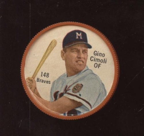 1962 Salada Baseball Coin #148 Gino Cimoli Nrmt