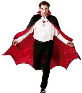 Cesar B889-004 - Capa para disfraz de vampiro, talla 52-54, color rojo y negro