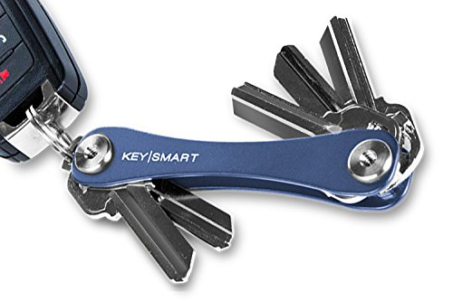 KeySmart Extended   Compact Key Holder and Keychain Organizer (2-14 Keys, Slate)
