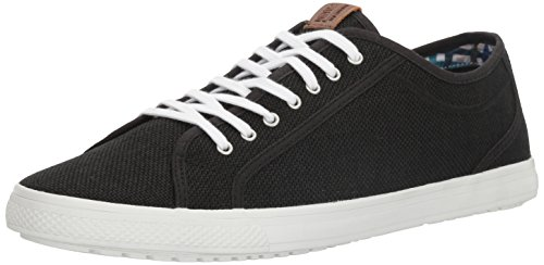 Ben Sherman Men's Chandler Lo Fashion Sneaker, Black Linen-Bklnen, 11 M - Fashion Chandler