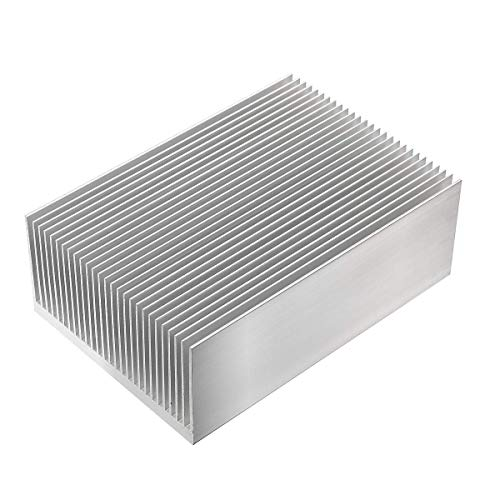 Xnrtop Aluminum Heat Sink Heatsink Module Cooler Fin for High Power Led Amplifier Transistor Semiconductor Devices with 100mm (L) x 69mm(W) x 36mm(H)