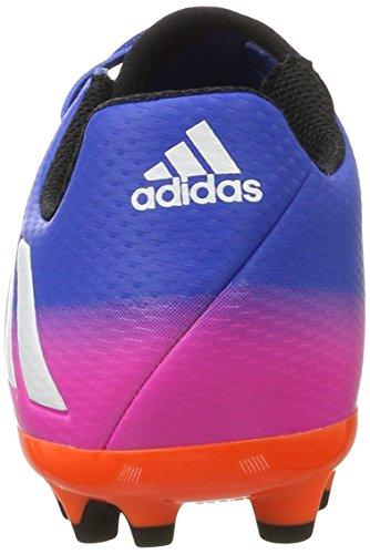 adidas Messi 16.3 Ag J, Botas de Fútbol para Niños Azul (Blue/ftw White/solar Orange)