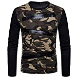 kaifongfu Mens Tops,Camouflage Long Sleeve Mens Suits Shirts Blouse Top(Camouflage,M)