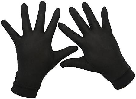 [スポンサー プロダクト]Tenn Well シルク手袋, 天然絹100% 手荒れ対策 保湿ケア UVカット おやすみ手袋 (ブラック)