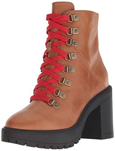 Steve Madden Women's Royce Fashion Boot Cognac Leather 7.5 M US