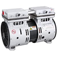 STARQ (ISO Certified) ST750 Watts -1 Hp Motor for Oil-Free Air Compressor Head with a Capacitor, Base Rubber and Inlet Muffler
