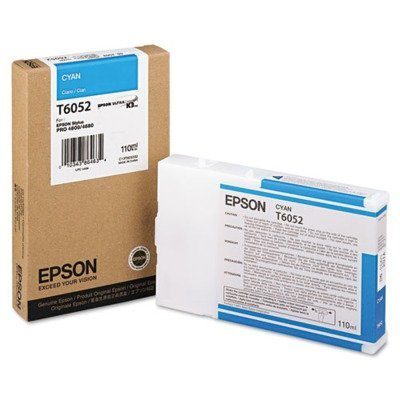 Epson T605200 UltraChrome K3 110ml Cyan Cartridge (T605200)