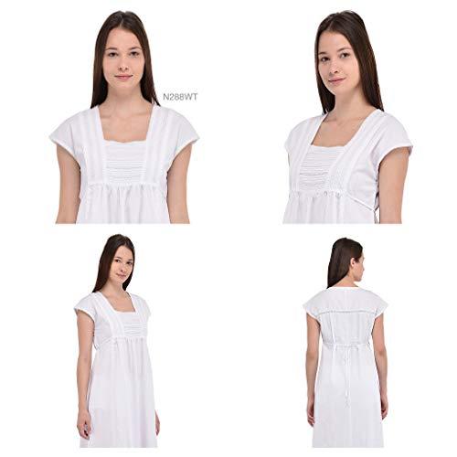 Notte Camicia Bianco Cotone Plus Cotton Vintage In Reproduction Da wt N288 Lane Size YtwYqX5