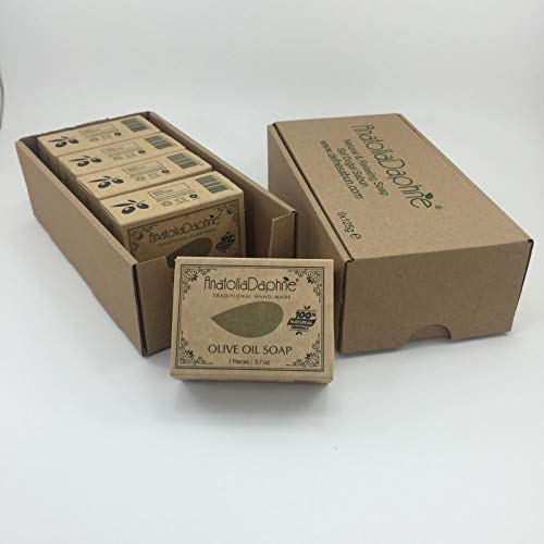 Olive Oil Soap Bar - Handmade 100% Pure Natural & Vegan (5 Bars)