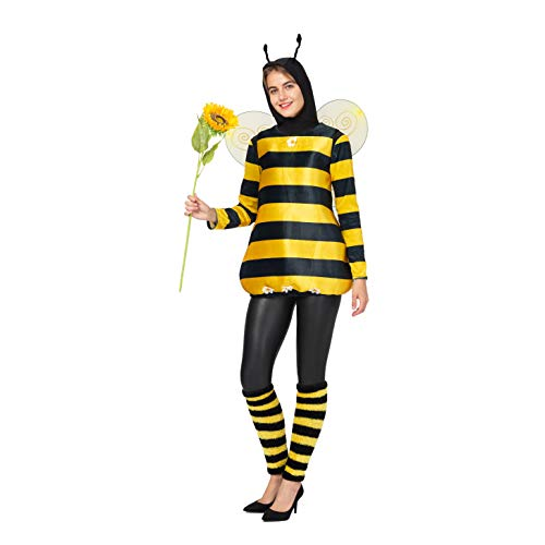 Man In Bee Costumes Dancing On Subway - Spooktacular Creations Unisex Bee Yellow Costumes