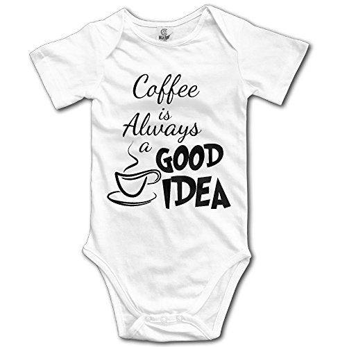 Toddler Climbing Bodysuit Coffee Is A Good Idea Infant Climbing Short-Sleeve Onesie Jumpsuit 18 Months