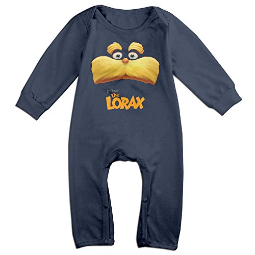 Dr Seuss Costumes Lorax (YOUD X-max Gift Newborn Dr. Seuss The Lorax Long Sleeve Jumpsuit Outfits 24 Months)