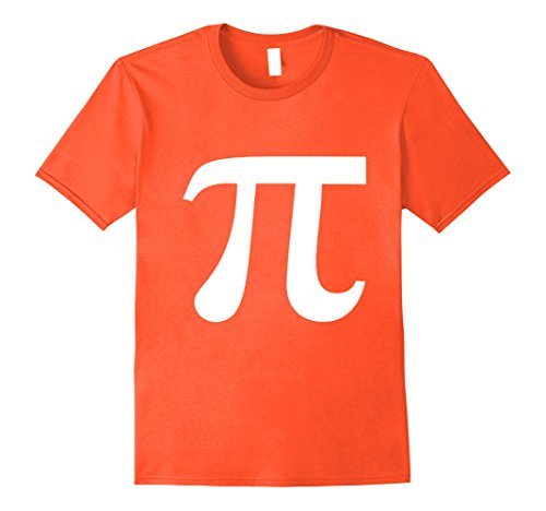 Mens Pumpkin PI Calculus Math Halloween T-shirt Funny Math Saying 2XL Orange (Math Sayings)