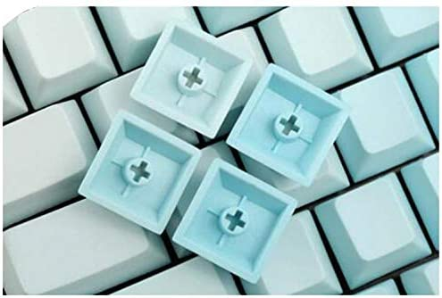NPKC Sky Blue Color Gradient Keycaps Thick PBT Laser-Etched Cherry Profile for Cherry MX Switches of Mechanical Keyboard 87-Key