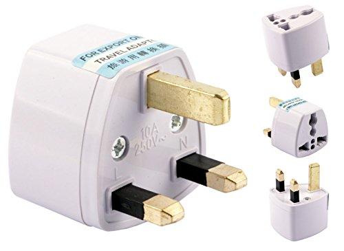Xcessor AC Power Travel Wall Adaptor Plug Converter EU / US / AU to UK British Standard. White (British Current Converter compare prices)