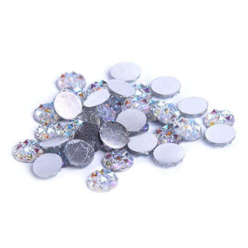 Nizi Jewelry Crystal AB Color Resin Rhinestones Flat Back 8mm 10mm 12mm 14mm Available (12mm 200pcs) (10 Mm Rhinestone Crystal)