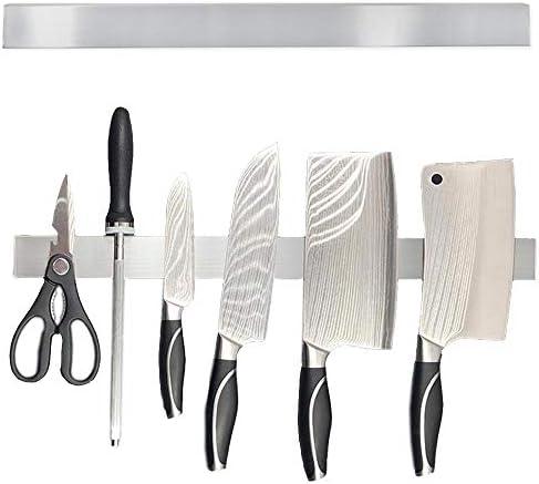 Womdee casa 30 cm Portacoltelli magnetico in acciaio INOX con striscia magnetica per coltelli cucina per parete facile installazione