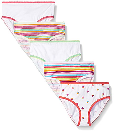 trimfit Big Girls' 100 Percent Cotton Tagless Assorted Br...