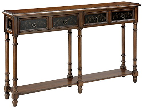 Hand Painted Wood Furniture - Stein World Furniture Taylor Console Table, Black, Wood Tone