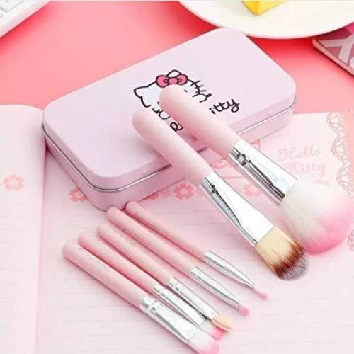 Spanking Hello Kitty Mini 7 Piece Brush Set for Women (Pink)